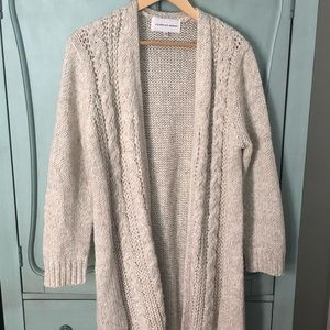 cupcakes & cashmere Cable Knit Oatmeal Sweater!